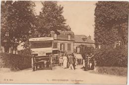 """CRIQUEBOEUF - Le Carrefour. Attelages Et Personnages. Publicité """" La St Ouennaise Excursion à Barfleur """" - Other Municipalities"""