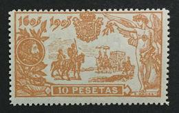 1905 . DON QUIJOTE 10 PESETAS. SIN FIJASELLOS MNH** - Nuevos