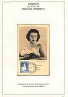 DDW580 - BELGIUM Belgique Timbres à SURTAXE - Carte MAXIMUM TP 844 UNESCO Turnhout 1951 - UNESCO
