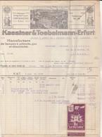 Erfurt -  Kaestner & Toebelmann - Lampes à Pétrole,gaz,électricité - Allemagne