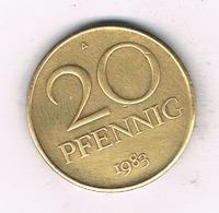 20 PFENNIG  1983 A DDR    DUITSLAND /1328/ - [ 6] 1949-1990 : RDA - Rép. Démo. Allemande