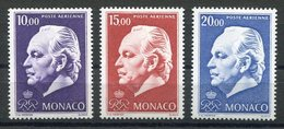 RC 15487 MONACO PA N° 97 / 99 SERIE COURANTE POSTE AERIENNE COTE 41,50€ NEUF ** MNH TB - Aéreo