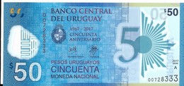 Uruguay - 50 Pesos 2017 - Série A - N° 007283333 - Neuf, Non Circulé - - Uruguay