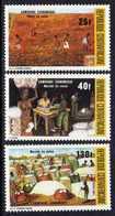 Centrafricaine  N° 646 / 48 XX Campagne économique ( I ): Le Coton. La Série Des 3 Valeurs Sans Charnière, TB - Centrafricaine (République)