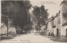 """PAYRAC - Avenue De Toulouse. Personnages Devant Commerce. Série """" Le Lot Pittoresque """". - Otros Municipios"""