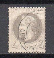 - FRANCE N° 27B Oblitéré CAD - 4 C. Gris Napoléon III Lauré 1866 Type II - Cote 90 EUR - - 1863-1870 Napoléon III Lauré