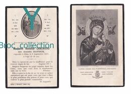 Saint-Ilpize, Le Puy-en-Velay, Paris, Mémento Mme Ernest Anatole Chalmeau, Née Annette Ravoux, 9/09/1932, 48 Ans, Décès - Images Religieuses
