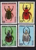 Centrafricaine  N° 650 / 53 XX Insectes En Danger D'extinction. La Série Des 4 Valeurs Sans Charnière, TB - Centrafricaine (République)