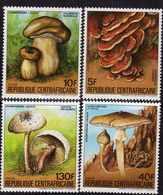 Centrafricaine  N° 653 A / D XX Flore : Champignons. La Série Des 4 Valeurs Sans Charnière, TB - Centrafricaine (République)