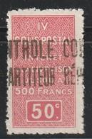 ALGERIE - COLIS POSTAUX - N°23 ** (1927) 50c Rouge - Parcel Post