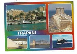 3636 - TRAPANI 5 VEDUTE 1980 CIRCA - Trapani