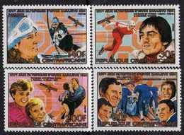 Centrafricaine N° 653 E / H XX Vainqueurs Aux Jeux Olympiques D'hiver De Sarajevo. La Série Des 4 Vals Sans Cha., TB - Centrafricaine (République)