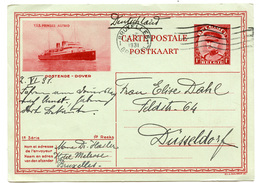 T.S.S. Prinses Astrid Illustrated Postal Stationery Postcard Posted 1931 To Germany B200220 - Ganzsachen