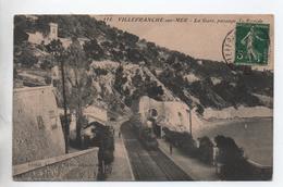 VILLEFRANCHE SUR MER (06) - LA GARE - PASSAGE DU RAPIDE - Villefranche-sur-Mer