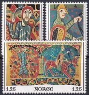 NORWEGEN 1976 Mi-Nr. 734/36 ** MNH - Nuovi