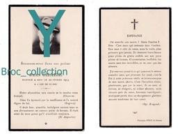 Saint-Etienne Ou Environs, Mémento De Jean Chaize, 22/02/1954, 43 Ans, Souvenir Mortuaire à Localiser, Décès, Deuil - Images Religieuses