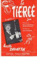 ACHILLE ZAVATTA - PARTITION LE TIERCE - (COURSES HIPPIQUES) - 1963 - EXCELLENT ETAT PROCHE DU NEUF - - Musique & Instruments