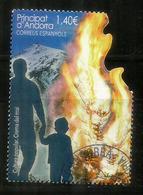 Tradicions Andorranes: A La Crema Del Mai ! L'hiver Est Fini ! Célébrations ! Un Timbre Oblitéré 1 ère Qualité. (2019) - Andorre Espagnol
