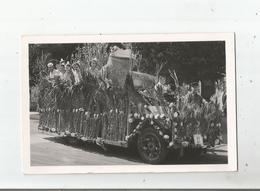 OYONNAX (AIN) CARTE PHOTO DE LA FETE DES FLEURS (AUTO FLEURIE AVEC MISS) - Oyonnax