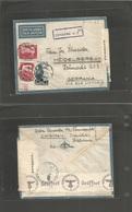 ITALIAN Colonies. 1940 (11 Aug) Somalia, Chisimaio - Heidelberg, Germany. Air Multifkd Env + Italian Somalian + Nazi Cen - Italia