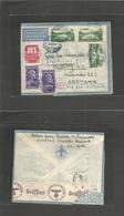 ITALIAN Colonies. 1940 (18 Oct) Somalia, Chisiamo - Germany, Heidelberg. Air Multifkd Env. Somalian + Nazi Censorships. - Italia