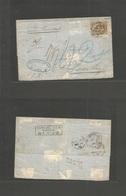 PERU. 1870 (27 Marzo) Lima - Germany, Hamburg (28 April) Via Callao BPO (28 March) - London (27 April) E Fkd Llama Perfo - Peru