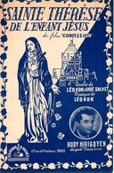 LISIEUX - PARTITION DU FILM CONFESSION STE THERESE DE L'ENFANT JESUS - 1948 - EXC ETAT  PROCHE DU NEUF- - Música De Películas