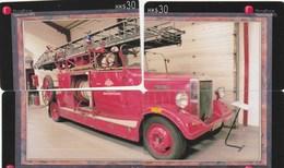TELECARTE ETRANGERE  ...PUZZLE 4 CARTES...CAMION DE POMPIER - Feuerwehr