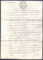 Véritable Parchemin Manuscrit Acte Notarié Du 17 Avril 1785 Moselle Beau Cachet ( Timbre Fiscal ) - Manuscritos
