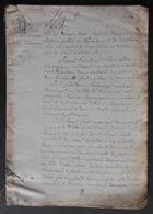 Manuscrit Du XIXe Siècle - Calvados Et Seine Maritime - Orbec Et Elbeuf - Protagonistes Dénommés Le Maigneur Et Pigot - Manuscrits