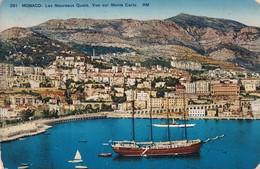 Monaco Les Nouveaux Quais Vue Sur Monte Carlo - Sonstige