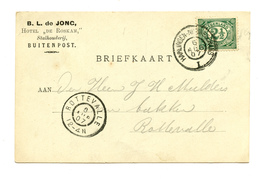 "Netherlands B.L. Jonc Hotel ""De Roskam"" Company Postcard Posted 1907 B200220 - Lettres & Documents"