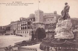 Monaco Le Palais Du Prince Et Le Monument Commemoratif Du 25 E Anniversaire De Son Regne - Sonstige