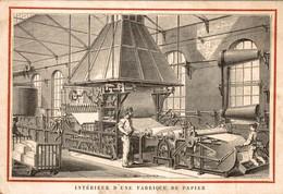 Intérieur D'une Fabrique De Papier - Gravure - Papeterie - Imprimerie - Presse - Machine - Paper Factory - Papierfabrik - Autres