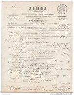 26 VALENCE Avenant Contrat Assurance 1854 ASSURANCE LA PATERNELLE  * B5 - Banque & Assurance