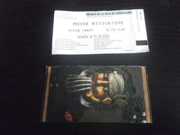 1 Ticket MUSEE DE LA VILLE - STRASBOURG - Tickets D'entrée