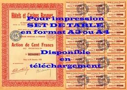 SCAN 300ppp - Action Ancienne CASINOS BASQUES - 100F Au Porteur - Actions & Titres