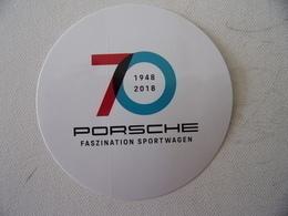 Autocollant / Sticker Porsche 70 Ans (1948-2018) - Pegatinas