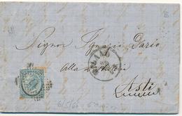 6-5-1866 MIANO CERCHIO + NUMERALE A PUNTI 6° GIORNO USO NUMERALI SU FERRO DI CAVALLO 3° TIPO CON TESTO - 1861-78 Vittorio Emanuele II