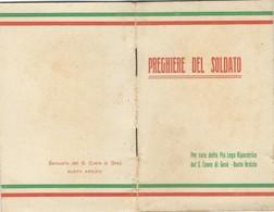 Libretto Preghiere Del Soldato Pia Lega Riparatrice S. Cuore Gesù Busto Arsizio Imp. 1915 (74 Come Da Foto 12,2 X 8,0 X - Libri, Riviste, Fumetti