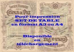 SCAN 300ppp - Action Ancienne CASINOS De NICE (Sté Fermière) - Part Bénéficiaire - Actions & Titres