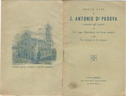 Libretto Breve Vita S. Antonio Di Padova Pia Lega Riparatrice S. Cuore Gesù Busto Arsizio (71) Come Da Foto  14,5 X 9,6 - Livres, BD, Revues