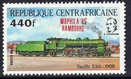 """Centrafricaine  N° 654 XX Timbre Surchargé """"Mophila'85 Hambourg"""" Sans Charnière, TB - Centrafricaine (République)"""