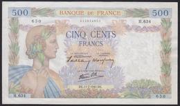 Frankreich - France 500 Francs Banknote 11-7-1940 XF Pick 94a   (12346 - Frankreich