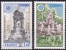 Cept, 1978, Frankreich,  Mi.Nr.  2098/99, MNH **,  Europa: Baudenkmäler. - Europa-CEPT