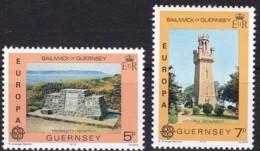 Cept, 1978, Guernsey,  Mi.Nr.  161/62, MNH **,  Europa: Baudenkmäler. - Europa-CEPT