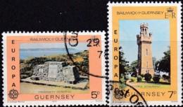 Cept, 1978, Guernsey,  Mi.Nr.  161/62, Used Oo,  Europa: Baudenkmäler. - Europa-CEPT