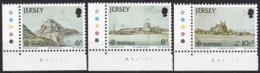 Cept, 1978, Jersey,  Mi.Nr.  177/79, MNH **,  Europa: Baudenkmäler. - Europa-CEPT