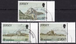 Cept, 1978, Jersey,  Mi.Nr.  177/79, Used Oo,  Europa: Baudenkmäler. - Europa-CEPT