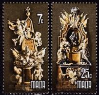 Cept, 1978, Malta,  Mi.Nr.  569/70, MNH **,  Europa: Baudenkmäler. - Europa-CEPT